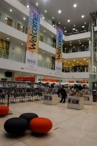 photo of interior of Newcastle library